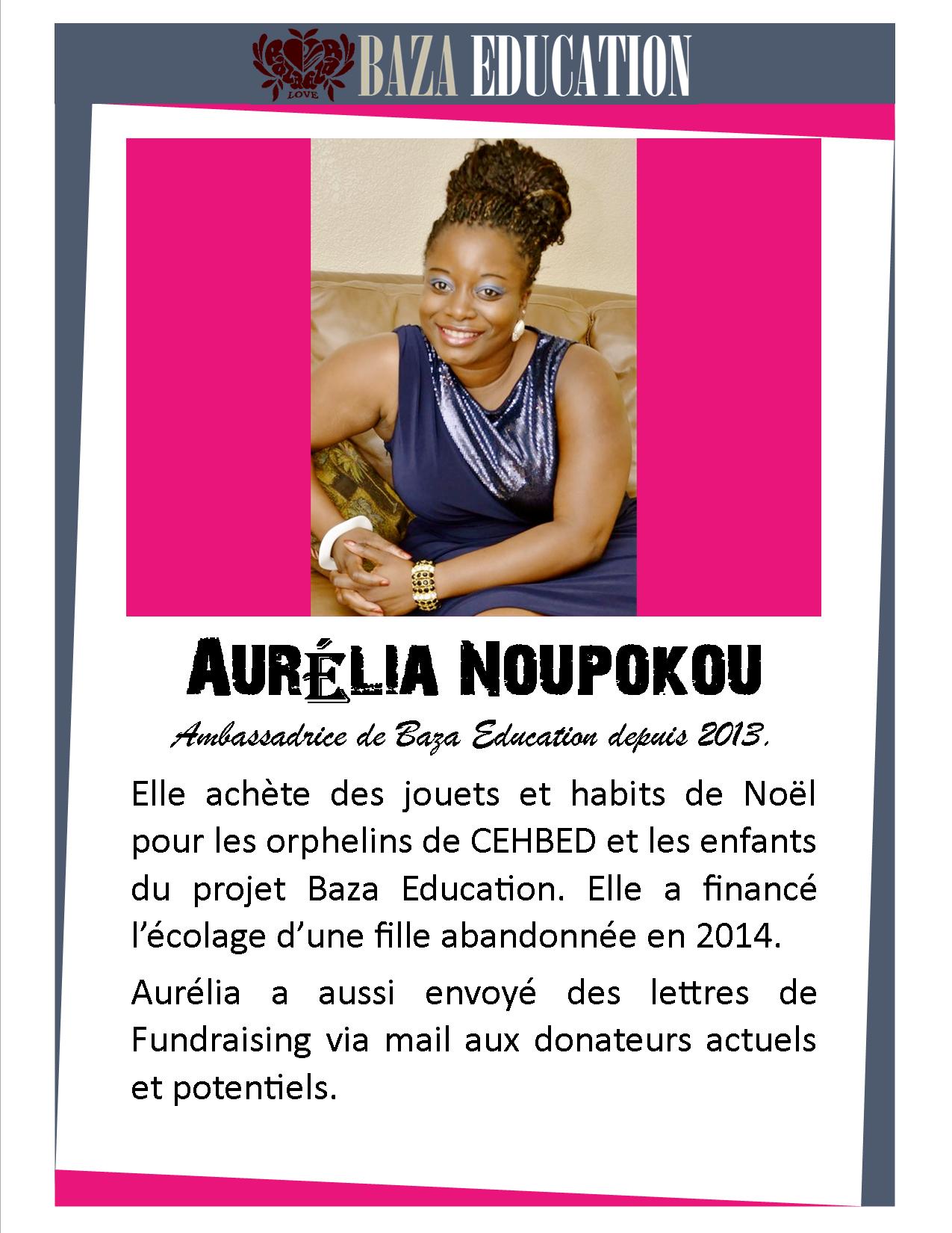 Rencontrer un Ambassadeur Baza - Aurelia Noupokou