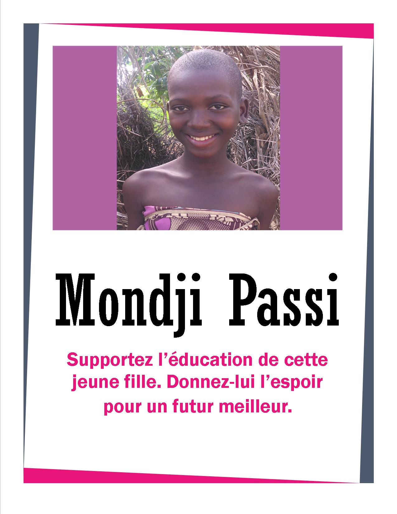 Rencontrez Mondji Passi - Aider pour son éducation